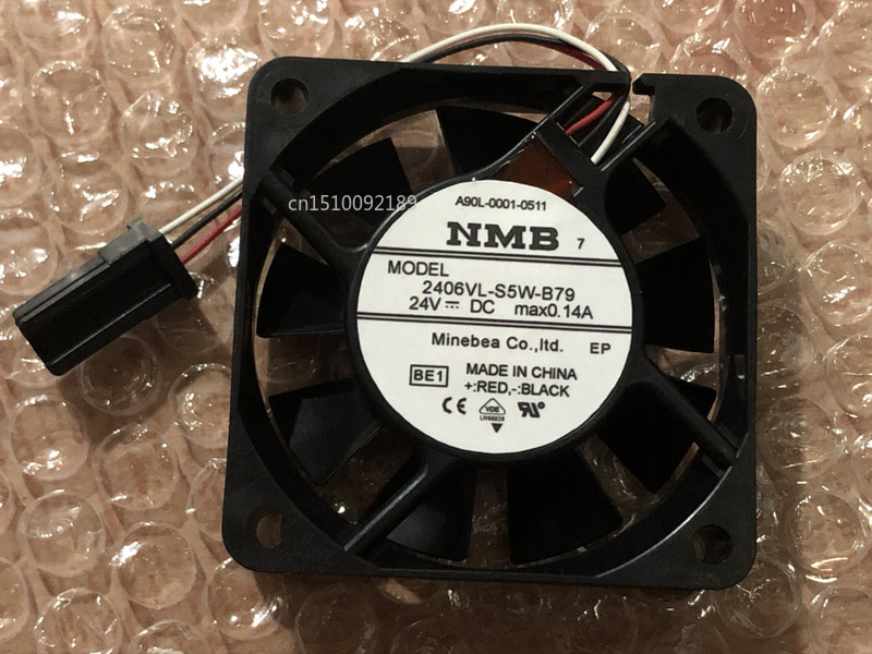 For 2406VL-S5W-B79 BE1 Server Cooler Fan DC 24V 0.14A 60x60x15mm 3-wire Free Shipping