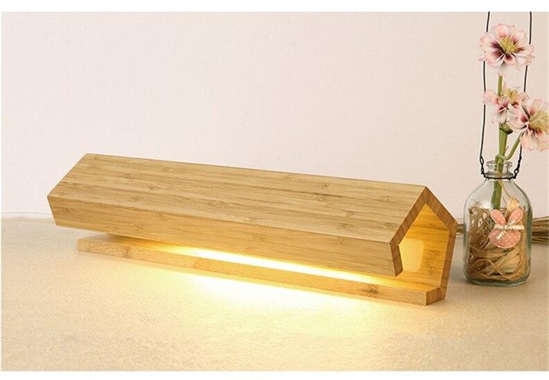 Simples de madeira led candeeiros de mesa