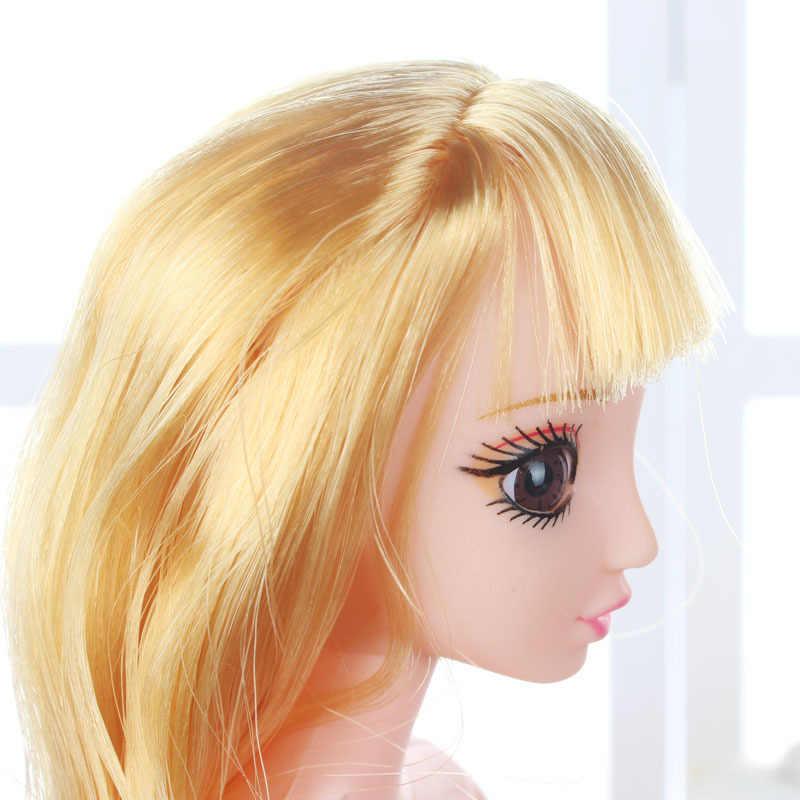 Offerta speciale di Nuovo Stile Della Torta Da Forno Barbie Testa di Bambola 3D Occhi Davvero FAI DA TE Bambola Bambino Nudo Universale Barbie Testa