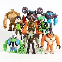 11 pçs/set Ben Grey Importa Heatblast Humongousaur Rath Vilgax Ação PVC Figuras Presentes Brinquedos Infantis
