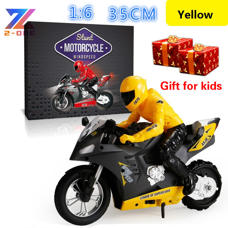 1:6 Big RC Moto Kids Motorcycle Electric Remote Control RC Car 2.4Ghz Light Sounds effect Racing Motorbike Boy toys for children