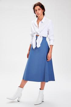 Trendyol Индиго юбка с деталями TWOAW20ET0098