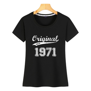 Tops, camiseta para mujer, 1971, divertida camiseta femenina corta Harajuku