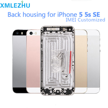 10Pcs Back Housing Battery Cover Door Case for iPhone 5 5S Metal Middle Frame Chassis with Side Buttons