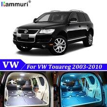 22 шт белые светодиодные с Canbus автомобильный интерьерный комплект ламп для Volkswagen VW Touareg 2003-2010 светодиодный интерьерный светильник