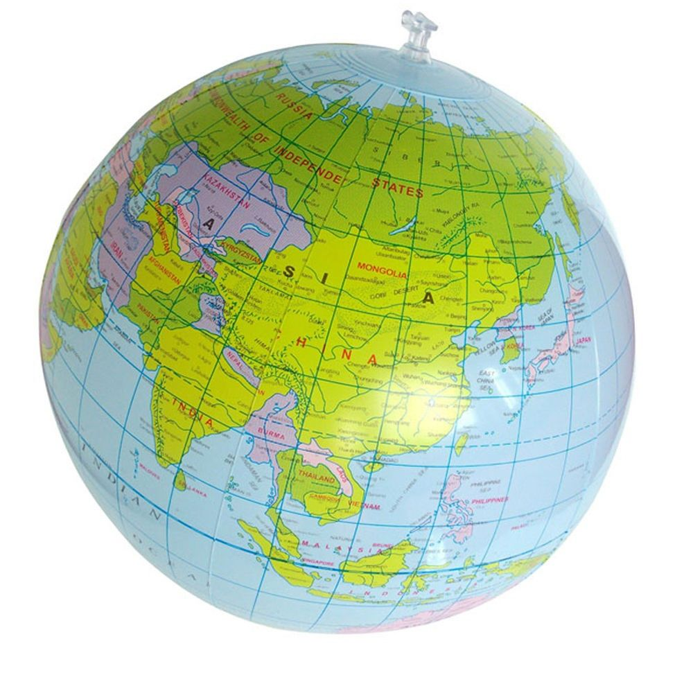 30cm Inflatable Toys For Children PVC Map Balloon Inflatable Earth English Version World Globe Education Geography Kids Toy