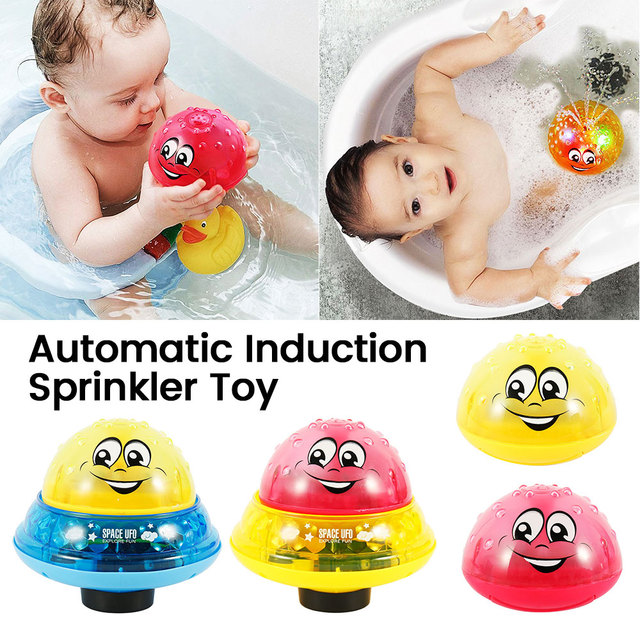 Children Bathroom Water Spray Bath Toys Electric Sprinkler Ball with Light Music Funny Infant Baby Water Play Ball Bathing Toys 5