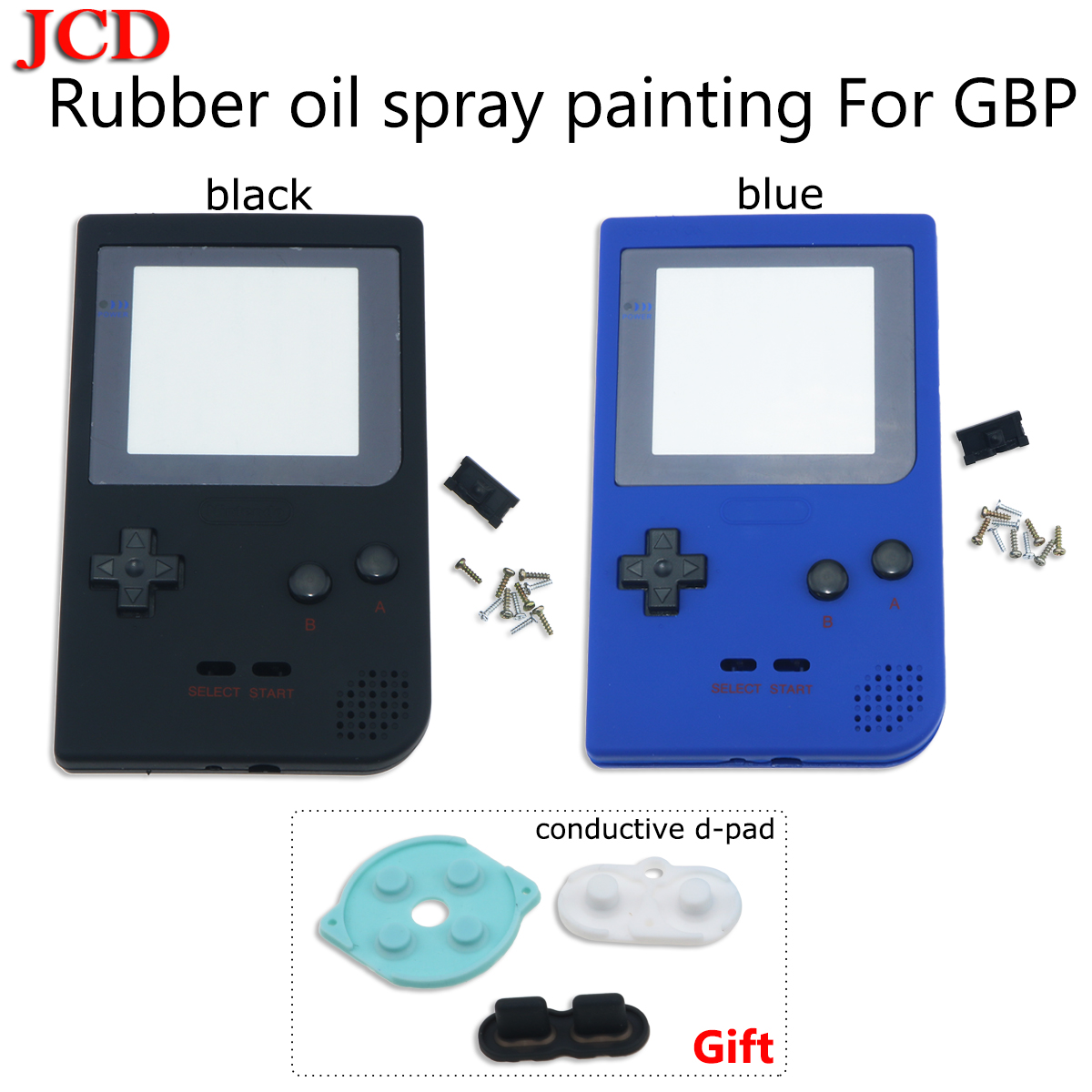 JCD Full Case Cover Housing Shell Replacement For Gameboy Pocket Game Console for GBP Shell Case with Buttons conductive d-pad