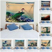 Wall Hanging MandalaTapestry Traveling Camping Sunrise Japanese Pattern Tapestry Yoga Pad Sleeping Tapestry