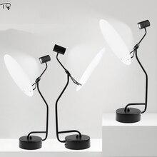 Moon Lamp Iron Art Luminaria Table Lamp Black Modern Nordic Creative Desk Lamp Led Bedroom Bedside Living Room Home Decoration цены