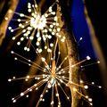 200 светодиодов фейерверк светильник Складная декоративная струнная лампа Дистанционное управление 8 режимов