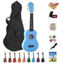 21 Inch Ukulele Mahogany Soprano Gecko Ukulele Guitar Musical Instrument 4 String Hawaiian Mini Guitarra with Bag, Picks, Tuner
