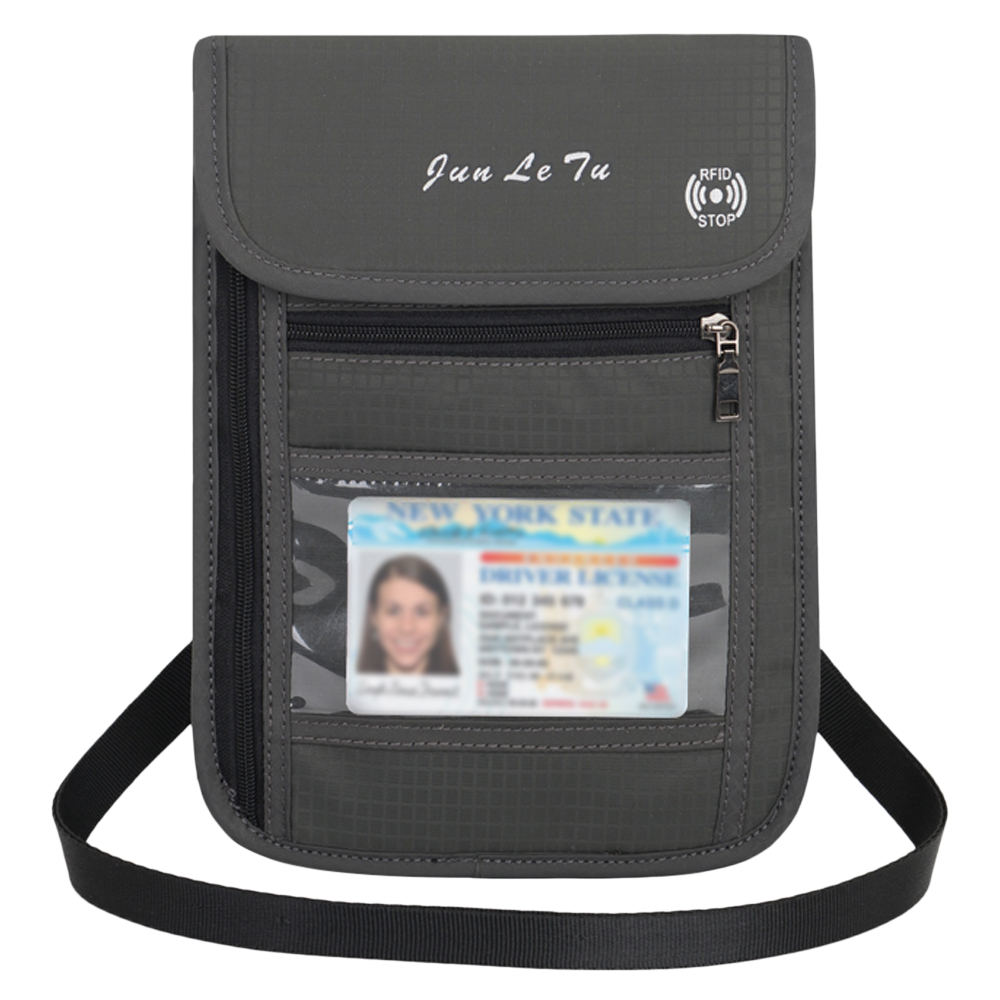 Lixada Journey Card Bags Neck Pouch Wallet Key Bag With RFID Blocking For Men Women Passport Holder Document Organizer Card Bag