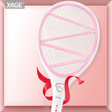 купить YAGE Pest Control Electric Mosquito Swatter Mosquito Killers Bug Zapper Reject Racket Trap Home Tool 2200V Electric Shock 400mAh дешево