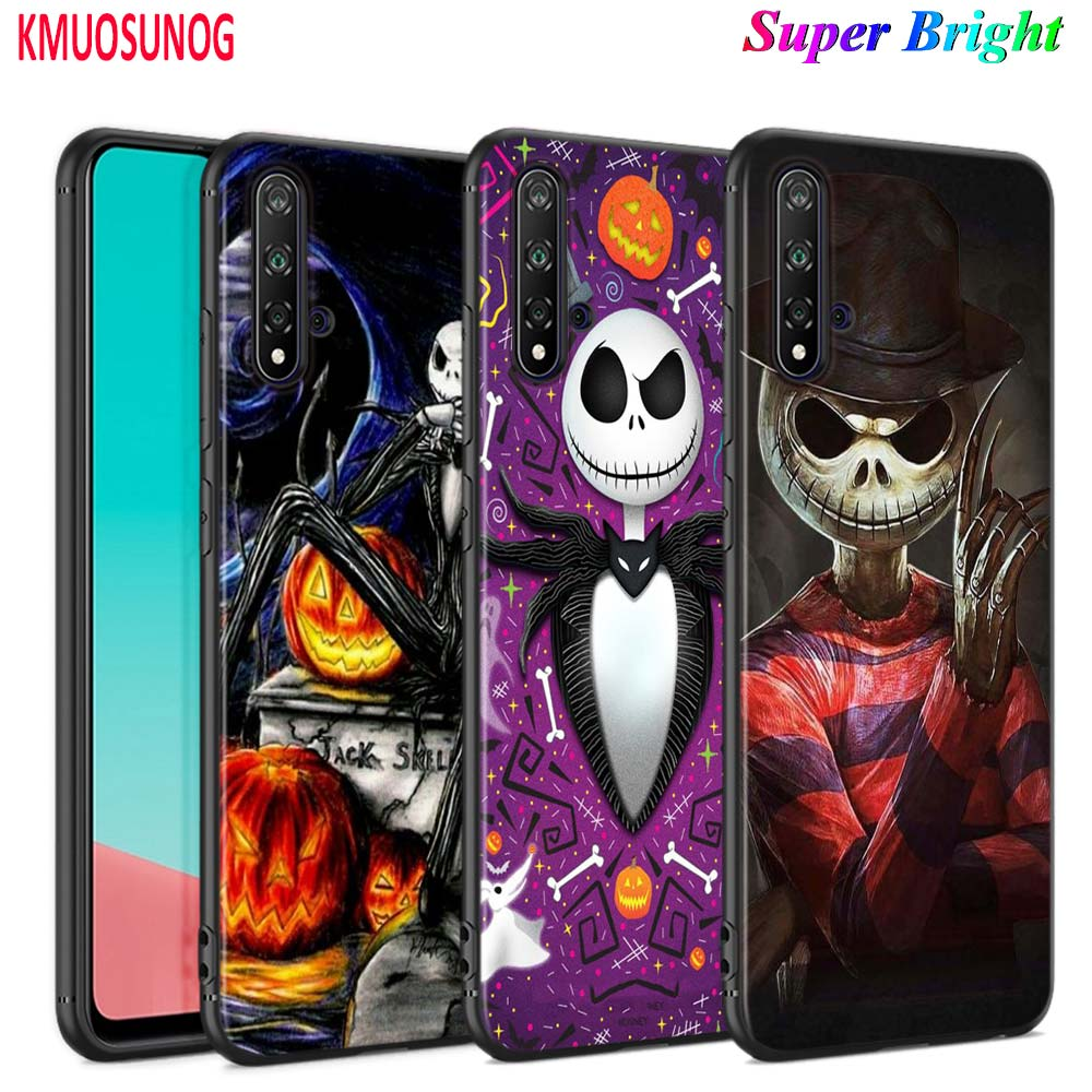 Black Silicone Cover Hot Jack Skellington for <font><b>Huawei</b></font> Nova 5 3i <font><b>P</b></font> <font><b>Smart</b></font> Z Plus <font><b>2019</b></font> P30 P20 Pro P10 P9 Lite Plus <font><b>Phone</b></font> <font><b>Case</b></font> image