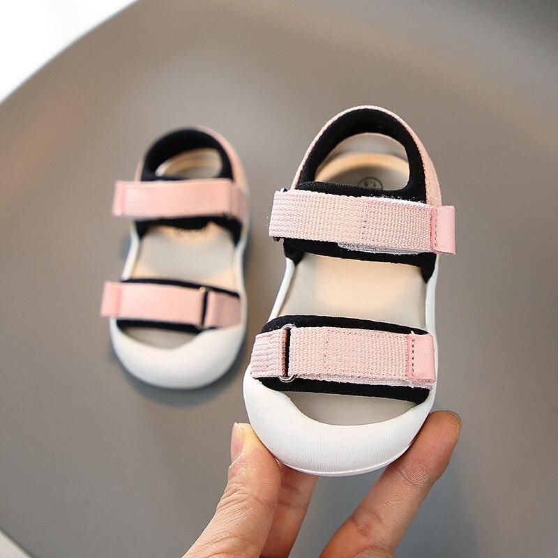 2020 infantil da crianca meninas sapatos de verao do bebe meninos sapatos de praia criancas apartamentos