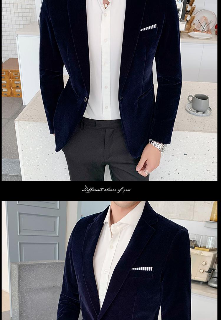H291b498c93a24e18af2202bcbc0cd44ft - Autum Velvet Wedding Dress Coat Mens Blazer Jacket Fashion Casual Suit JacketStage DJ Men's Business Blazers Veste Costume Homme