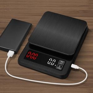 Image 5 - Balança eletrônica de precisão, para cozinha, 5kg/0.1g, 10kg/1g, lcd, digital, balança de café com gotejamento balança doméstica com temporizador de peso