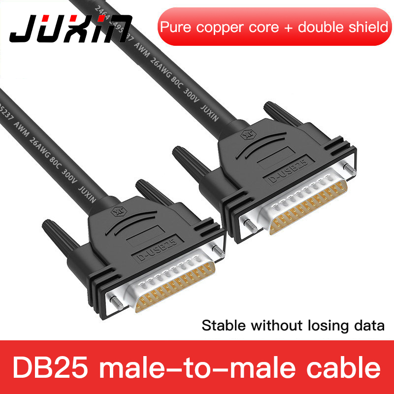 DB25 Parallel Cable Male To Male Female For Laser Printer DB25 Pin Converter Extension Cable 1.5M 3M 5M 10M