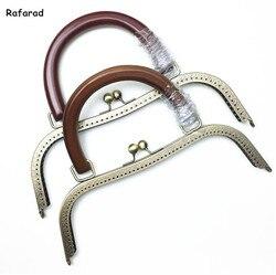 10 шт. в партии 27 см металлическая рамка для кошелька с деревянная ручка сумки для монет швейная рамка для кошелька Китай Diy аксессуары постав...