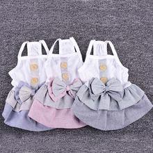 Летнее платье для собаки трех цветов одежда домашних животных