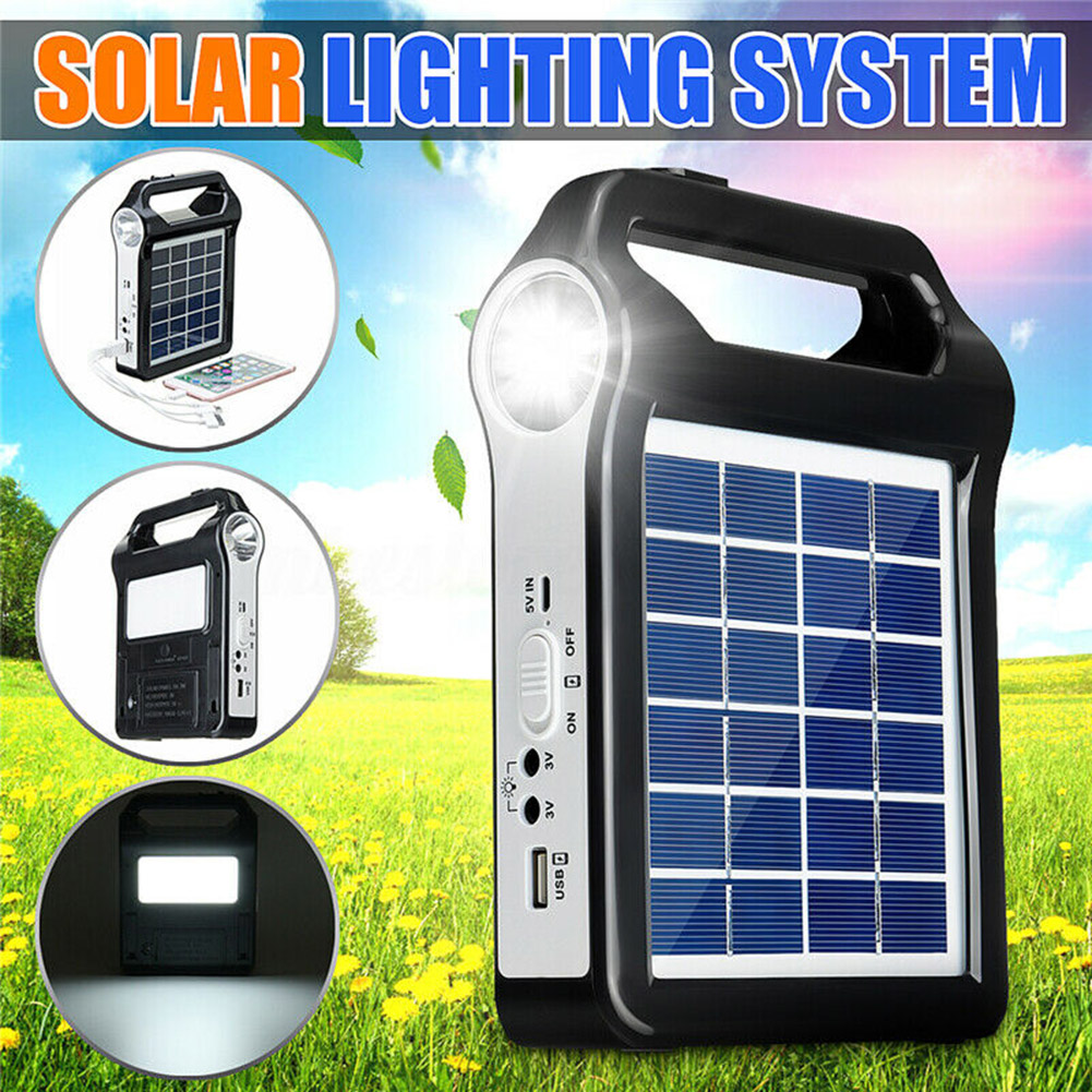 Best Chance for  Portable Solar Panel Generator System USB Port Built In Lighting Lamp CLH@8