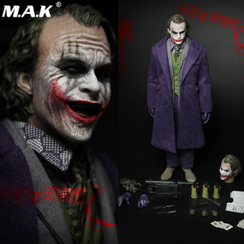 in stock 1/6 Scale FIRE A001 New Full Set Action Figure Purple Coat Batman Joker Head Body Clothes Set Accessory Doll Toys full set action figure damtoys dam 780562 1 6 chinese peacekeeper pla in un peacekeeping operations