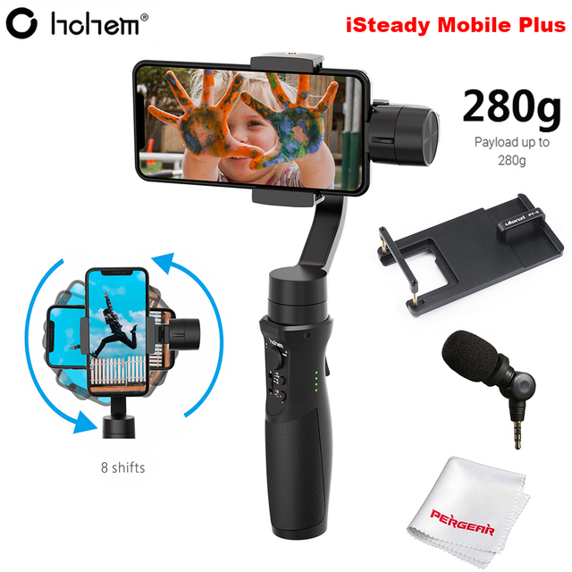 Hohem iSteady Mobile Plus 3 Axis Handheld Smartphone Gimbal Stabilizer for iPhone 11 Pro Max XS XR X Samsung S10 S9 Huawei Gopro