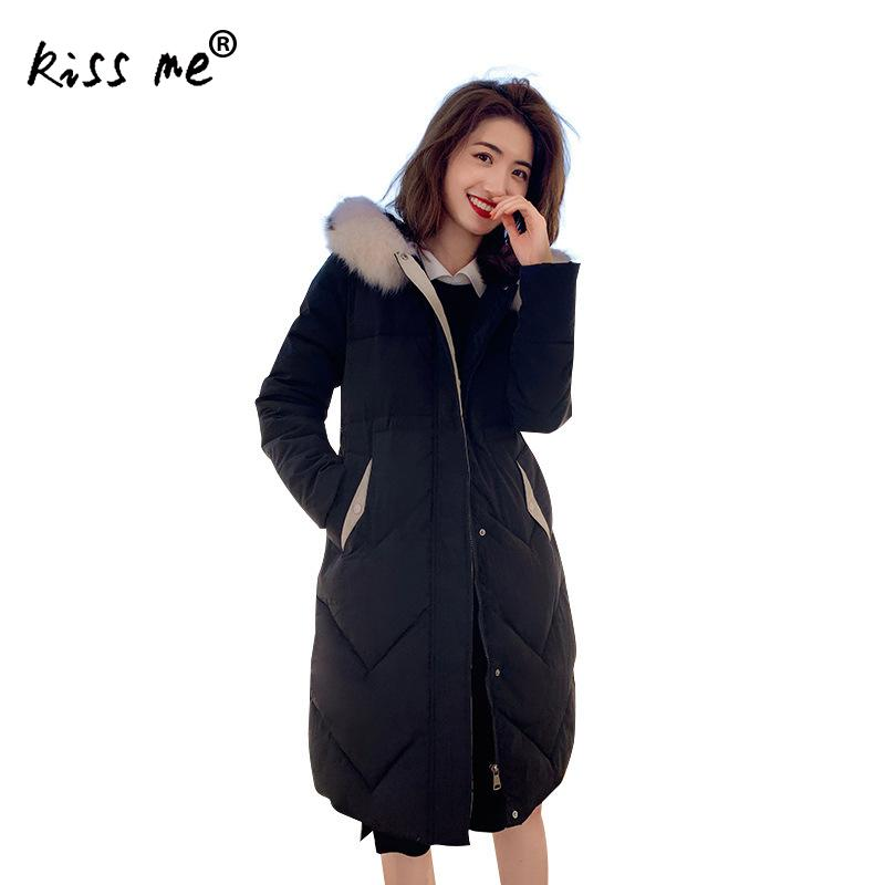Loose Mid- Long Parkas Women Outdoor Down Jacket Female Thermal Warm Down Coat Thicken Windproof Cotton Down Clothing Solid