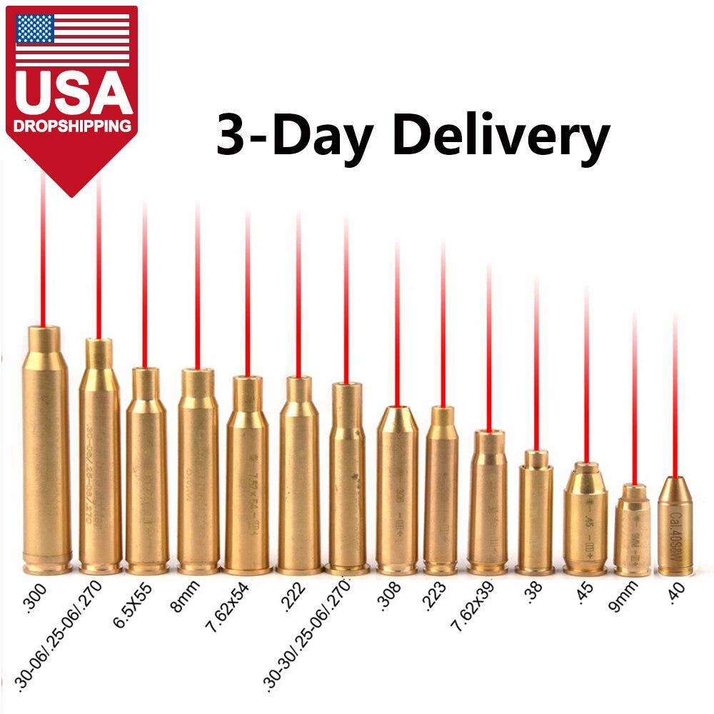 США, Прямая поставка, красный точечный лазерный Латунный картридж для оптического прицела калибра, прицел для охоты