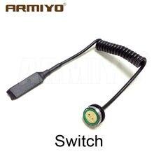 Armiyo interruptor remoto apto 635-655nm arma ponto vermelho laser visão lanterna tocha ajustável 11mm & 20mm caça ferroviário