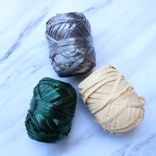 Customized Cotton Straw Raffia Crochet Thread for knitting Knit Thread DIY Handmade Woven Bag Hat Accessories
