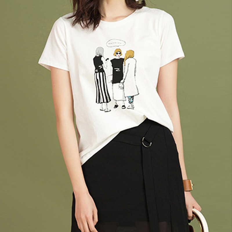 도매 저렴한 캐주얼 streetwear 그래픽 티셔츠 여성 짧은 소매 티셔츠 패턴 인쇄 tshirt 귀여운 메쉬 탑 dropshipping 새로운