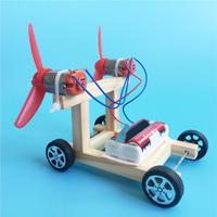 Kids DIY Assembly Electric Racing Car Model Teaching Aid Science Experiment Toy Intellectual improvement