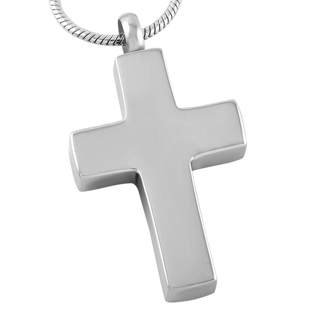Cremation Pendant For Men  And Gold Stainless Steel Cross Memorial Urn Necklace Hold Human/Pet Ashes Keepsake 2
