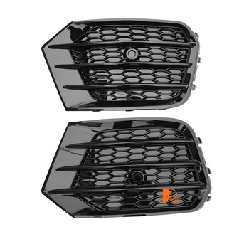 Fit For Audi Q3 2013-2018 Fog Light Grills 2PCS Left & Right Car Front Bumper Fog Lamp Grills in Racing Grills ABS Replacement