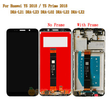 "5,45 ""Für Huawei Y5 Prime 2018 DRA LX2 Volle LCD Display Touch Screen Sensor Glas Rahmen Für Y5 2018 DRA L21 DRA L01 LCD Bildschirm"