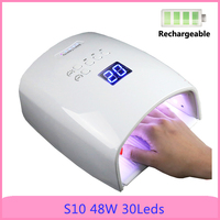 48W 30pcs UV LED Lamp Build in Battery Infrared Sensor Curing Nail Gel Dryer Lamp Nail Dryer Manicure Tool Nail Art Equipments