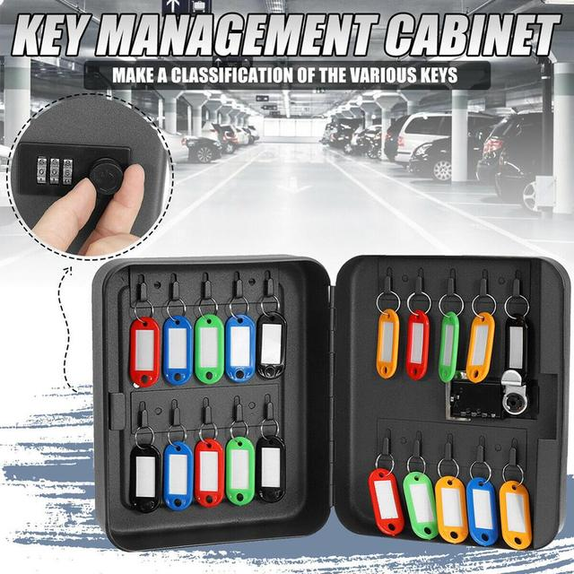 Home Combination Lock Key Safe Box Organizer Lockable Password Wall Mounted Office Car Resettable Code Metal Security