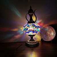 Turkey handmade mosaic pot living room bedroom dining room coffee shop Hotel romantic glass decorative table lamp