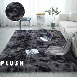 Tie-dye Carpet Printed Alfombra Plush Floor Fluffy Plush Rug Children Bed Room Fluffy Floor Carpets Win Nordic Style Grey Pink
