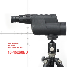 NEW 15-45×60 ED LENS  Spotting Scope telescope Ultra HD sniper tactics Mil dot ffd reticle COMPACT  SPOTTING SCOPE
