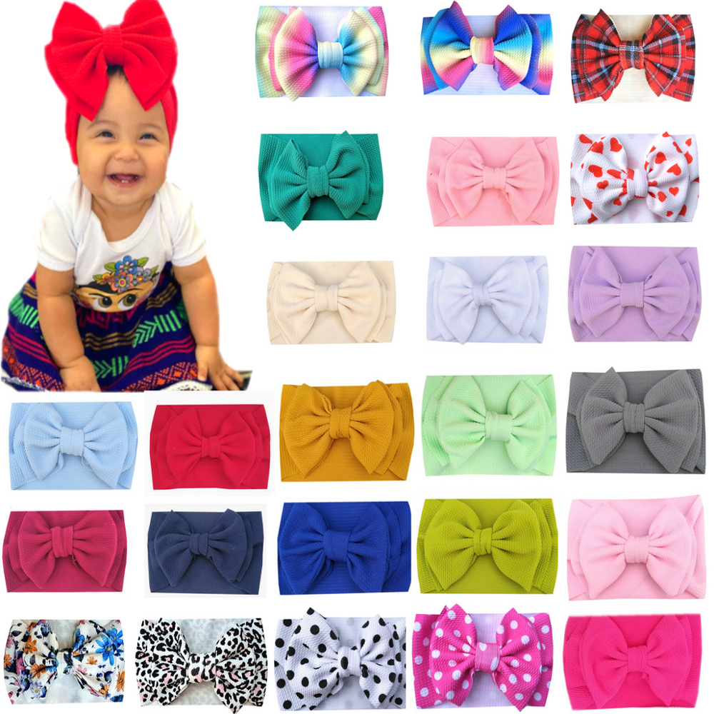 Bow Headband Hairbow Oversize-Bow Toddler Large Abby title=