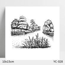 AZSG Grass and Tree Clear Stamps For DIY Scrapbooking/Card Making/Album Decorative Silicone Stamp Crafts
