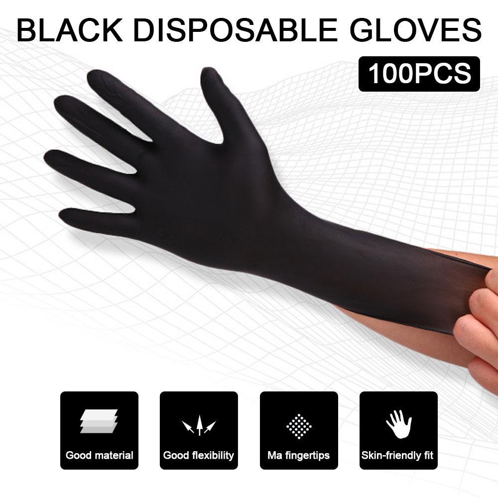 100pcs Latex Glove Stretchable Extraordinary Strength Disposable Powder-Free Labor Gloves Anti Saliva Tattoo Artists