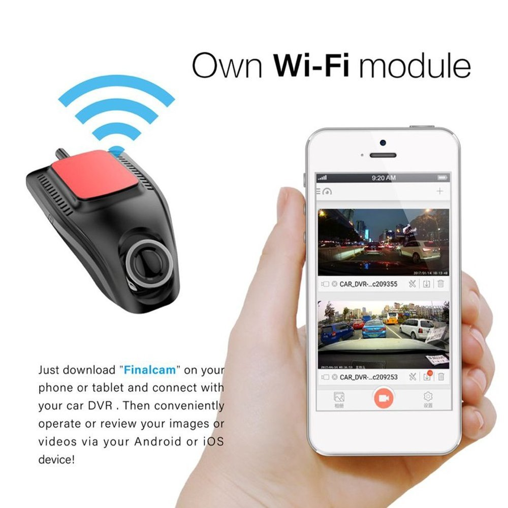 Small Eye Dash Cam Car DVR Recorder Camera with Wifi Full HD 1080p Wide Angle Lens G Sensor Night Vision Dash Cam Top Sale