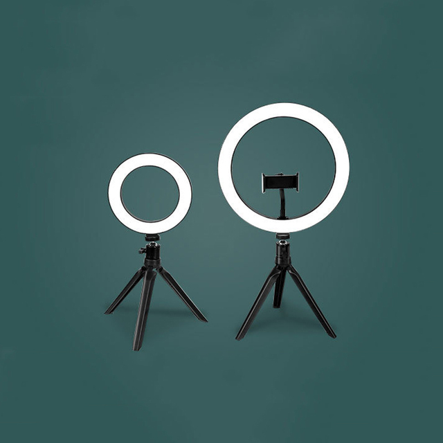 Live Stream Beauty Self Timer Fill Light Photography Tripod Adjustable LED Portable Night Enhanced Mobile Phone Ring Lamp