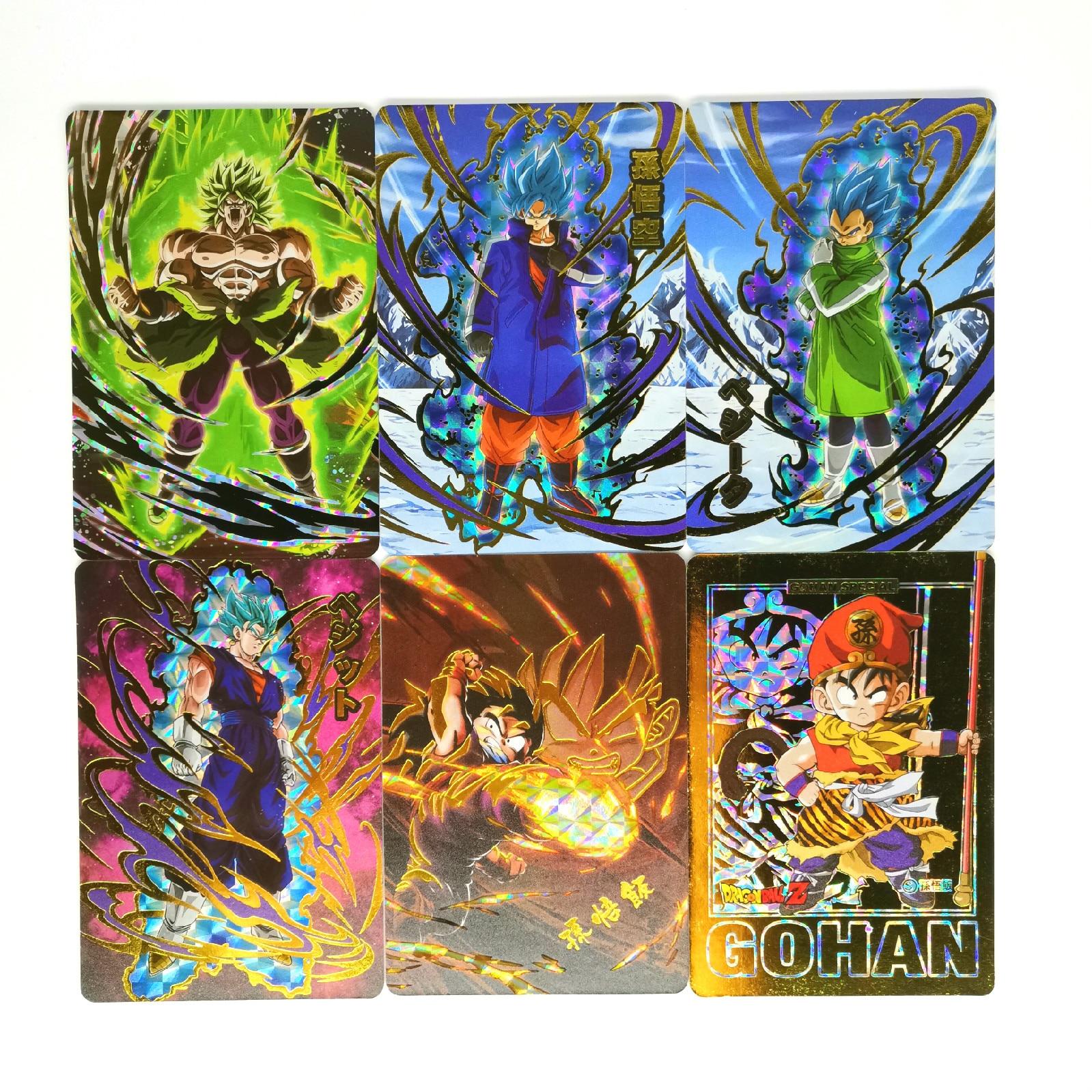 9pcs/set Super Dragon Ball Z Bronzing Heroes Battle Card Ultra Instinct Goku Vegeta Game Collection Cards