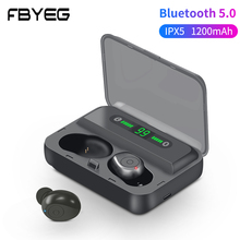 FBYEG TWS F9 True Stereo Wireless Bluetooth earphone HIFI HD Sport Headset Earbuds with microphone for phone