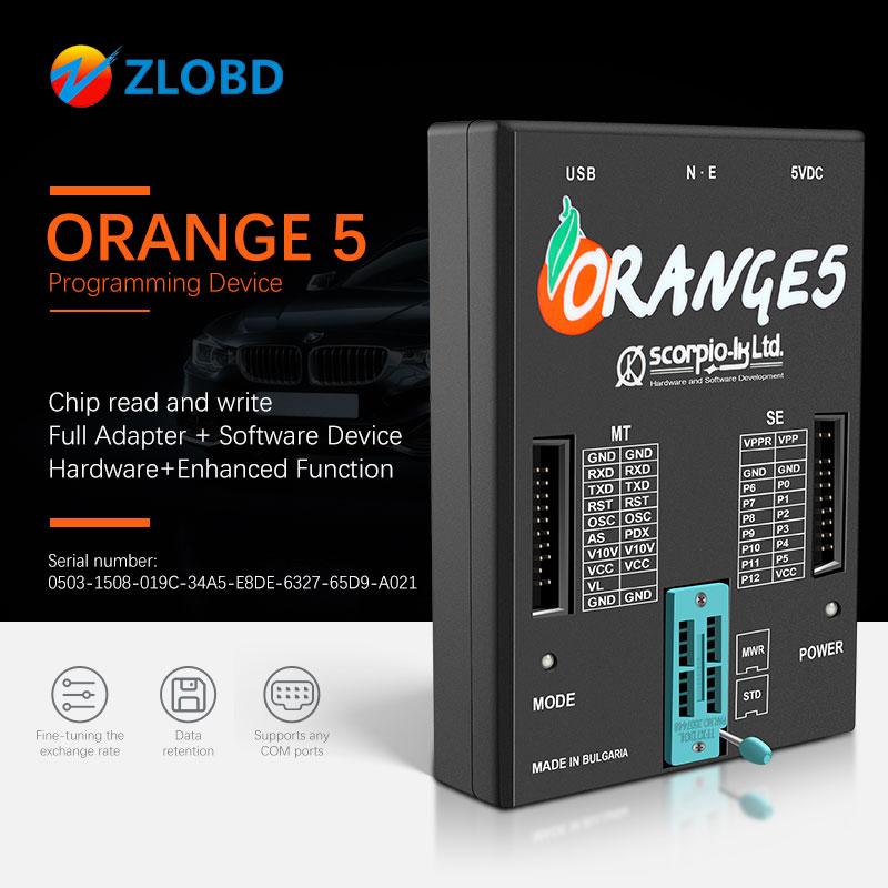Orange 5 Programmer orange5 plus full set OEM  Full Adapter and Software Device Hardware Enhanced Function best serial number